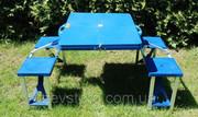 Кемпинг стол + 4 стула