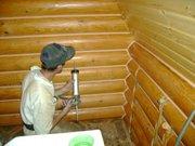Герметизация швов деревянного дома   выполним , Украина.