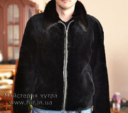 Мужская куртка из меха бобра,  выдры,  норки. Индивидуальный пошив